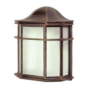 TransGlobe Lighting Outdoor 1 Light Outdoor Flush Mount; Rust