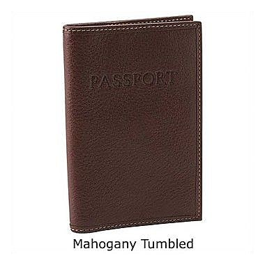 Johnston & Murphy Passport Holder; Mahogany Tumbled