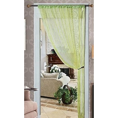 Kashi Home Single Curtain Panel; Lime