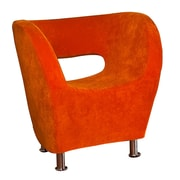 Home Loft Concept Hester Microfiber Modern Chair; Orange
