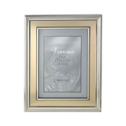 Lawrence Frames Brushed Gold Inner Panel Metal Picture Frame; 4'' x 6''