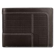 Mancini Collegiate Men s Passcase Wallet (RFID Secure); Brown