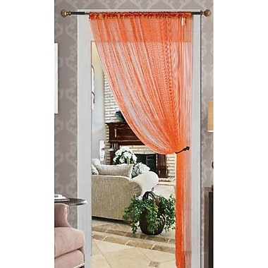Kashi Home Single Curtain Panel; Orange