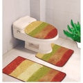 Kashi Home Denise 3 Piece Striped Bath Rug; Multi Color