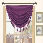 Kashi Home Holly Faux Silk Grommet Top Curtain Valance; Plum
