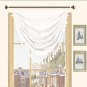 Kashi Home Holly Faux Silk Grommet Top Curtain Valance; White