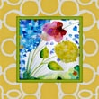 Obvious Place Abstract Colored Flowers Painting Print on Canvas in Multi