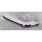 Gedy by Nameeks Bijou Wall Mounted Toilet Paper Holder; Transparent Lilac/Chrome
