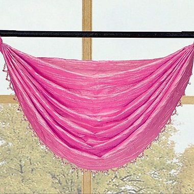Kashi Home Sherry Crushed Satin Curtain Valance; Fuchsia