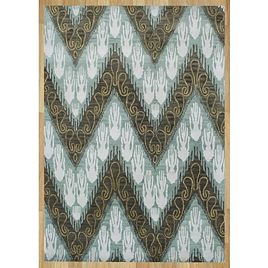 James Bond Alliyah Forest Green Ikat Area Rug; 5' x 8'