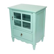Heather Ann 1 Drawer Accent Cabinet; Turquoise