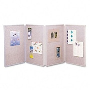 Quartet Tabletop Display Presentation Enclosed Cabinet Bulletin Board, 3' H x 6' W