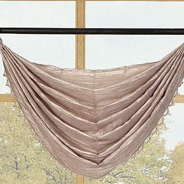 Kashi Home Sherry Crushed Satin Curtain Valance; Honey