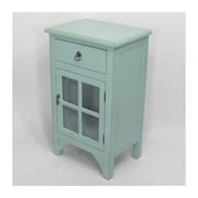 Heather Ann 1 Drawer Accent Cabinet; Light Antique Blue