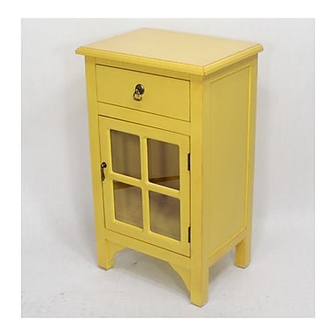 Heather Ann 1 Drawer Accent Cabinet; Yellow