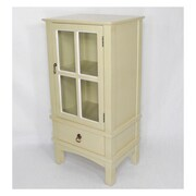 Heather Ann 1 Drawer Accent Cabinet; Beige