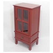 Heather Ann 1 Drawer Accent Cabinet; Red