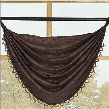 Kashi Home Sherry Crushed Satin Curtain Valance; Late