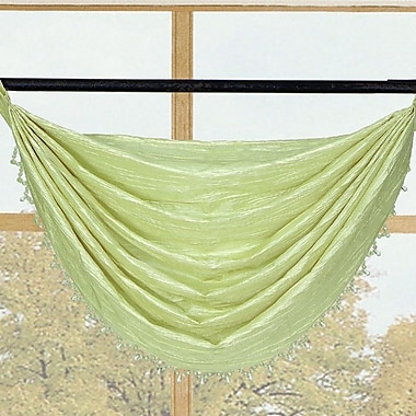 Kashi Home Sherry Crushed Satin Curtain Valance; Lime