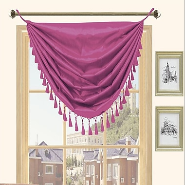 Kashi Home Holly Faux Silk Grommet Top Curtain Valance; Purple