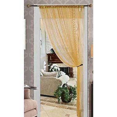 Kashi Home Single Curtain Panel; Gold