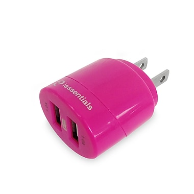 Digipower Dual USB Wall Charger, Pink