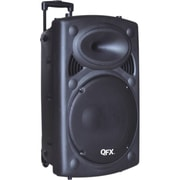 QFX® PBX-61150BT Portable Tailgate Battery Powered Bluetooth Speaker With 15 Woofer, Black