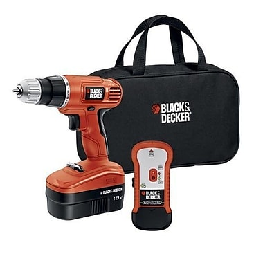 Black & Decker® GCO18SFB 18 V Cordless Drill With Stud Sensor and Storage Bag