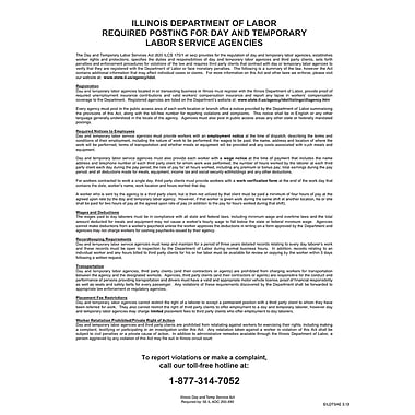 ComplyRight™ Illinois Day and Temporary Labor Services Act English Poster