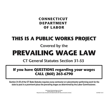 ComplyRight™ Connecticut Prevailing Wages Law Poster