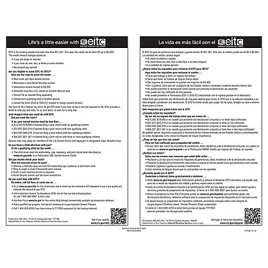 ComplyRight™ Earned Income Tax Credit Bilingual Poster