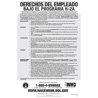 ComplyRight™ Employee Rights Under H-2A Program Spanish Poster