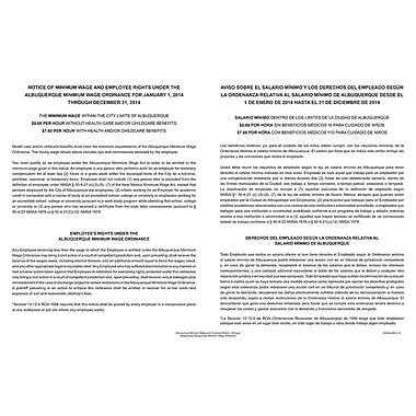 ComplyRight™ Albuquerque Minimum Wage Bilingual Poster