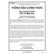 ComplyRight™ San Jose Minimum Wage Vietnamese Poster