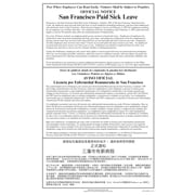 ComplyRight™ San Francisco Paid Sick Leave Multi-lingual Poster