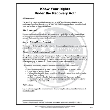 ComplyRight™ ARRA Whistleblower Rights Poster