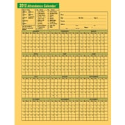 ComplyRight™ 2015 Annual Attendance Calendar, Yellow, 50/Pack