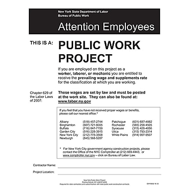ComplyRight™ New York Public Work Project Poster