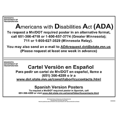 ComplyRight™ Minnesota Notice Americans With Disabilities Poster