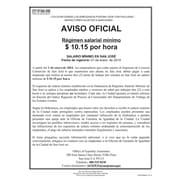 ComplyRight™ San Jose Minimum Wage Spanish Poster