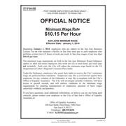 ComplyRight™ San Jose Minimum Wage English Poster