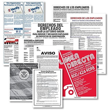 ComplyRight™ Federal Contractor Spanish Poster Bundle