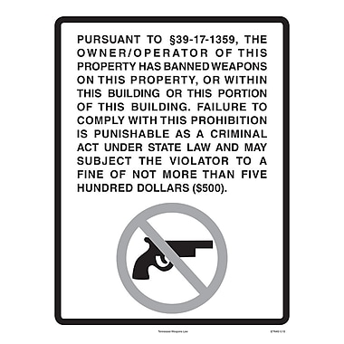 ComplyRight™ Tennessee Weapons Law Poster
