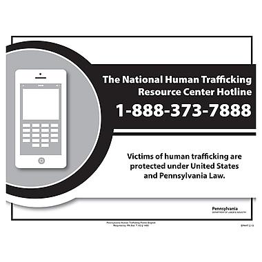 ComplyRight™ Pennsylvania Human Trafficking English Poster