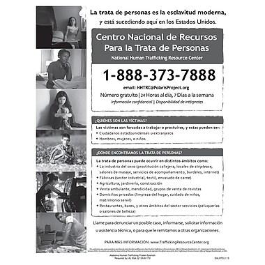 ComplyRight™ Alabama Human Trafficking Spanish Poster