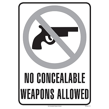 ComplyRight™ No Concealable Weapons Allowed Poster