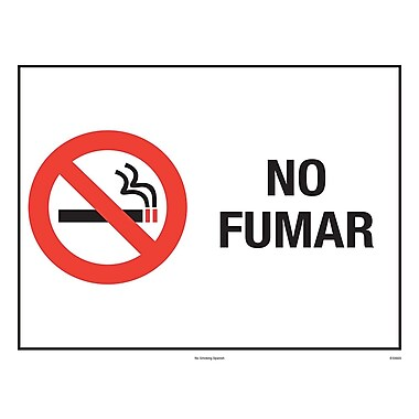 ComplyRight™ No Smoking Spanish Poster