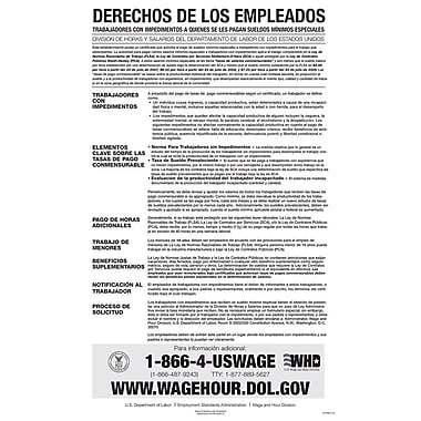 ComplyRight™ Federal Notice to Workers With Disabilities Spanish Poster