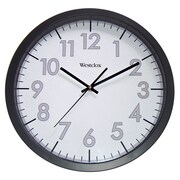 Westclox 32067 Plastic Analog Wall Clock, Black