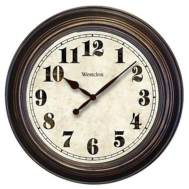Westclox 32213 Analog Wall Clock, Brown